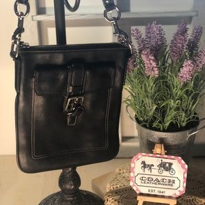 Coach ~ Black Leather Crossbody
